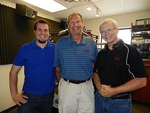 Jon King, Jim O'Day and Peter Christian on the Talk Back Show