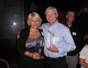Angel and Peter Christian at the MBA Awards