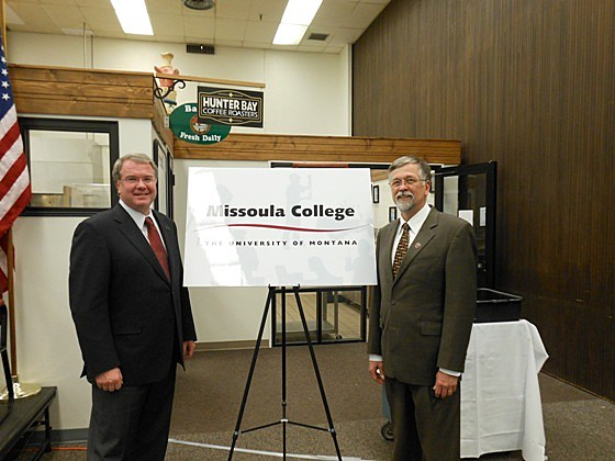 Missoula College sign