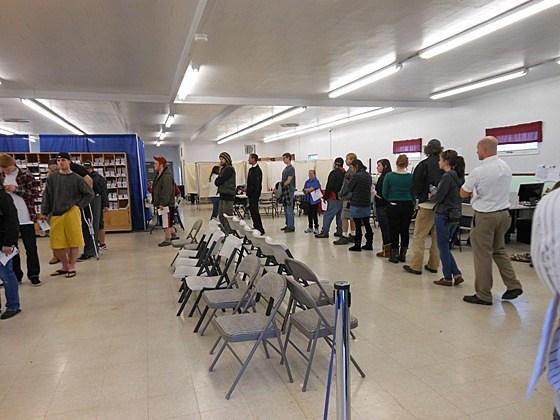 Missoula voter line
