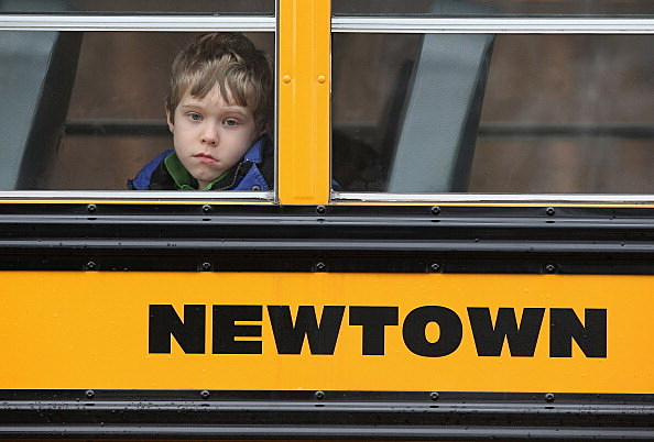 Newtown child on bus