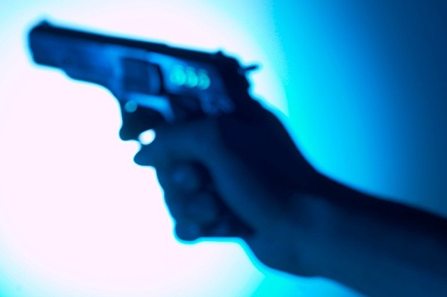 blurry handgun