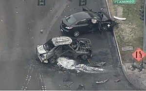 Las Vegas car crash