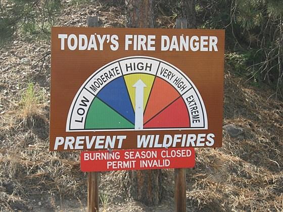 Missing Fire Danger Sign