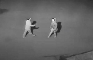 Surveillance image of arsonist Boone and Crockett Club