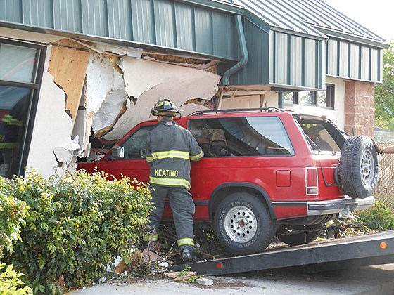 Car Crash in Building
