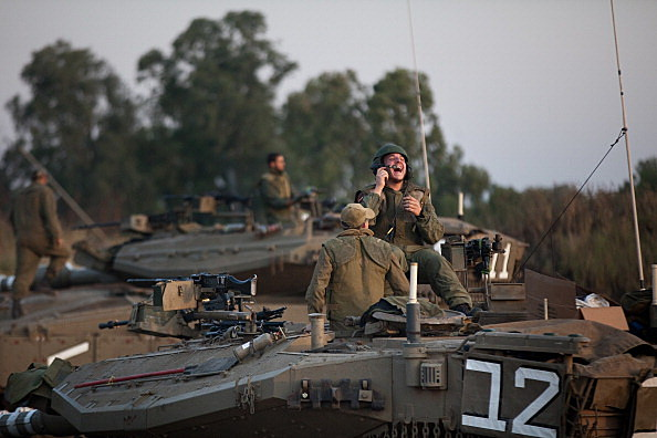 Israeli tanks on the Golan Heights