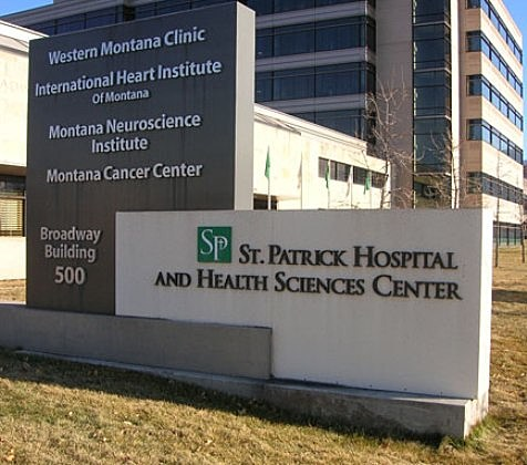Woman walks into St. Patrick Hospital shot in the face