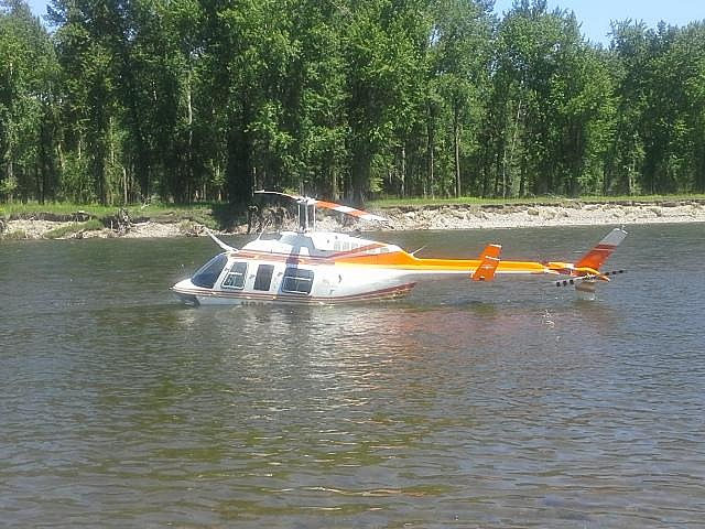 Helicopter In River