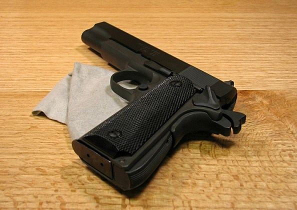 .45 caliber pistol