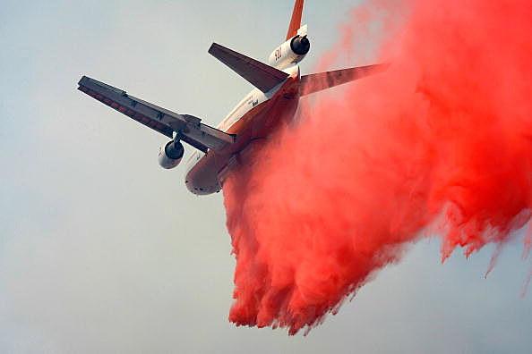Jet Tanker Dropping Retardant