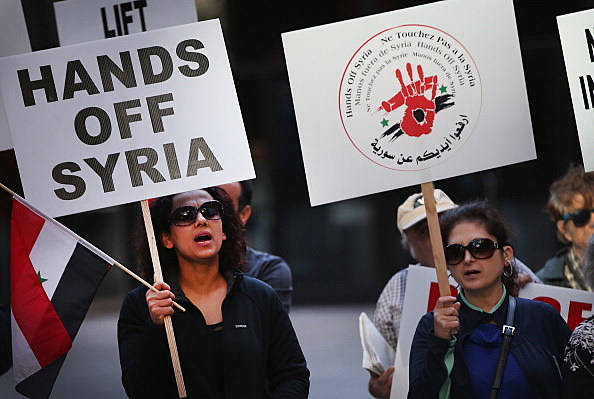 Anti-War Activists Protest Against Intervention In Syria