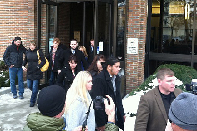 Friends of Cody Johnson leave the courthouse after Jordan Graham confesssion and plea deal