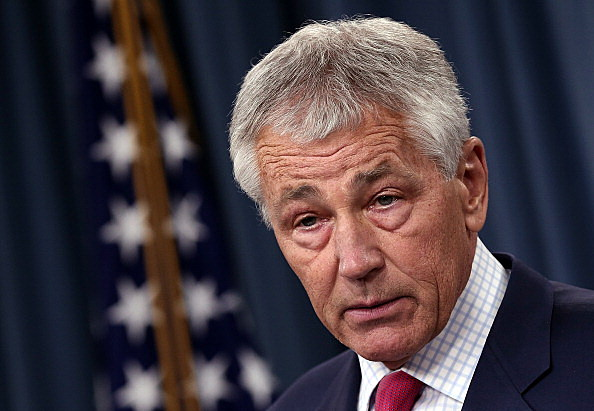 U.S. Defense Secretary Hagel Makes Announcement On Country's Missile Defense System