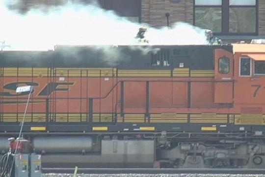 locomotive fire