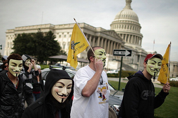 "Anti-Government ""Million Mask March"" Held In DC"