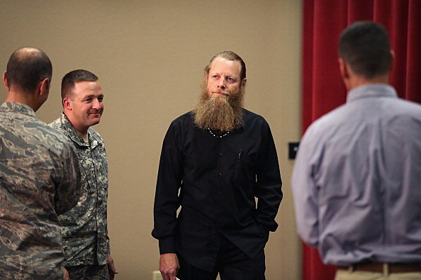 Parents Of Free Army Sgt. Bowe Bergdahl Speak To The Media At Idaho National Guard Base In Boise