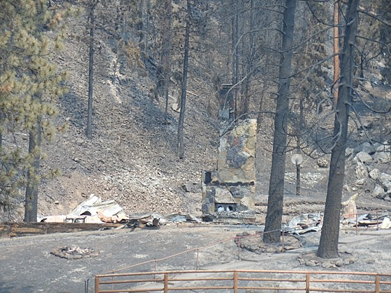 Lolo Creek Home Burned