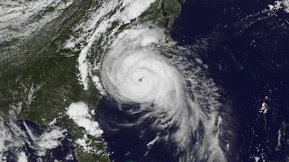 Hurricane Arthur Continues To Move Up The East Coast