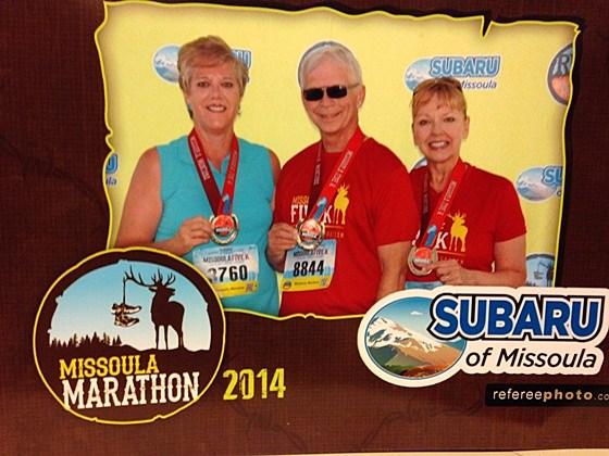Missoula Marathon medals