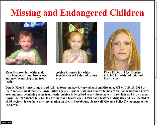 Alert Issued in Missoula for Two Missing Children [PHOTO]