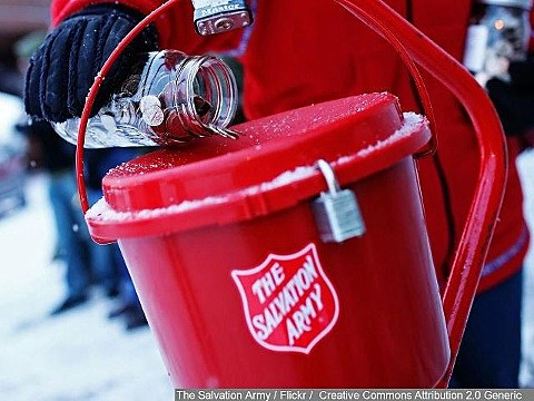 Look for woman who reportedly stole salvation army donation kettles
