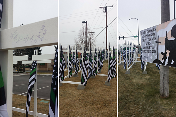 Green Striped Flags Reveal Missoula 39 S High Veteran Suicide Rate
