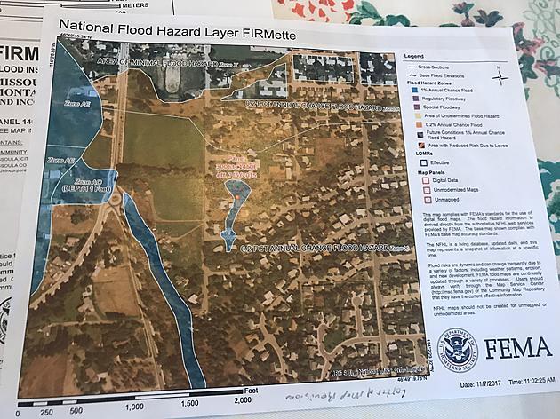 Missoula Storm Drain Creates Floodplain In Homeowners Backyard - Firmette map